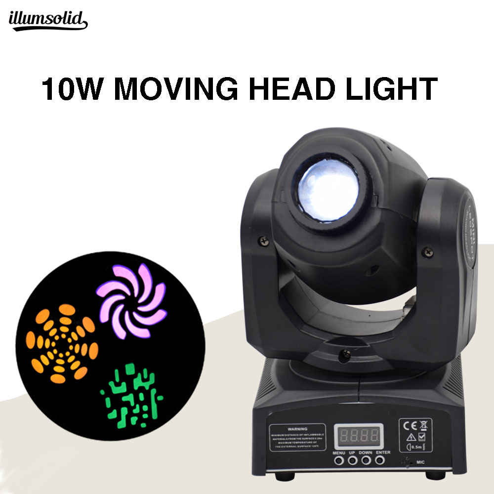 Mini Spot 60W LED Moving Head Light With Gobos Plate&Color Plate,High Brightness 10W Mini Led Moving Head Light DMX512Mini Spot