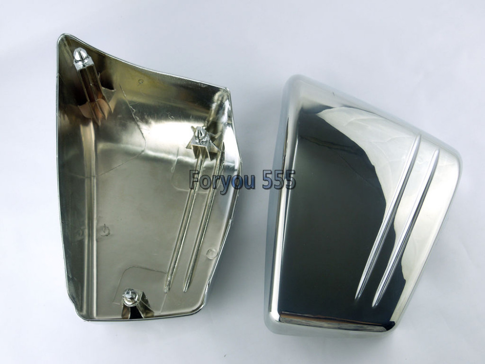 Chrome Fairing Battery Side Cover For For 2002-2008 Honda VTX 1800 C VTX1800C Custom ironwalls chrome air cleaner filter covers rainproof dustproof battery side fairing cover for honda magna vf750 vf750c 1994 2004