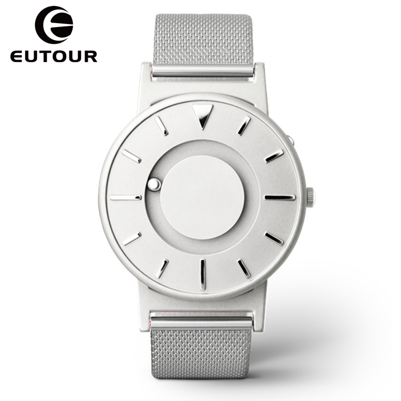 2017 Eutour luxury Top Brand Fashion Men watches Sport Magnetic Stainless Steel Strap watch military quartz WristWatches Clock xinge top brand luxury leather strap military watches male sport clock business 2017 quartz men fashion wrist watches xg1080