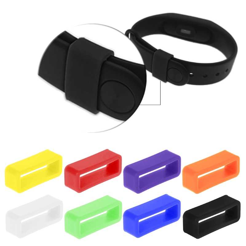 OOTDTY Silicone Anti-Fall Buckle Ring Loop Keeper Holder For Smart Bracelet Watch Band Smart Wearable Accessories