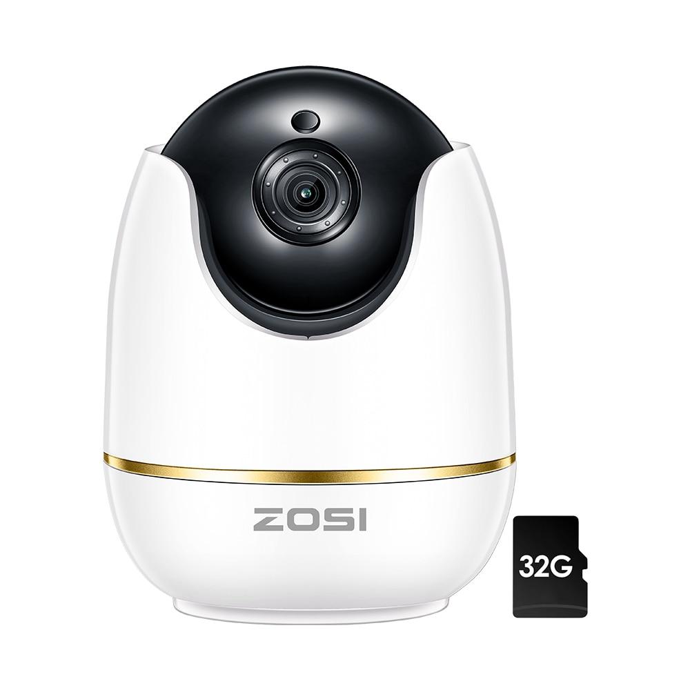 ZOSI Wifi IP Camera 1080p Wireless Mini CCTV P2P Camera Baby Monitor Security P/T Micro SD Card Camera Smart Remote Control