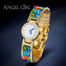 AG fashion brand flower enamel jewelry set bracelet  Vintage Series shielded  watches 13 styles