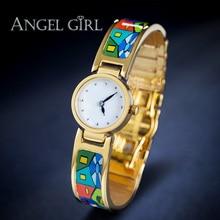 AG fashion brand flower enamel jewelry set bracelet  Vintage Series shielded  watches 13 styles