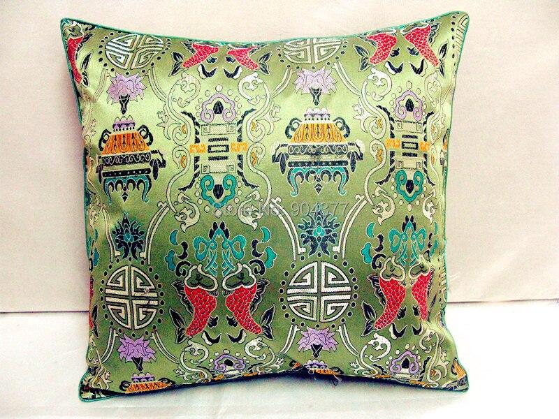 Винтаж жаккардовая подушка для кресла, дивана крышка шелковая подушка чехол площадь в этническом стиле декоративные подушки атласные рождественские наволочка 45x45