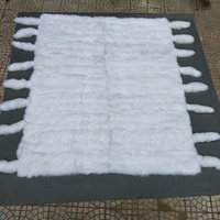 factory price wholesale natural white fox fur blanket China real fox fur plate for coat
