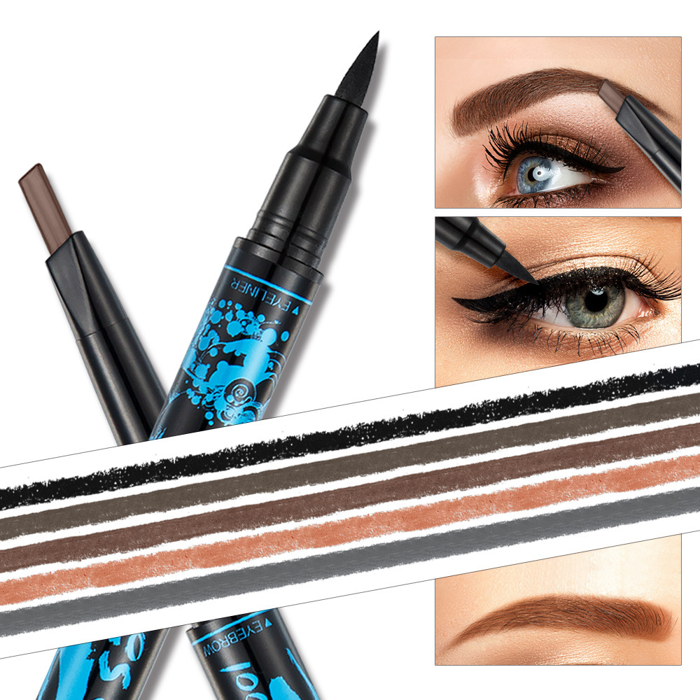 Double Head Eyebrow Pencil And Eyelash Growth Waterproof Microblad Eye Brow Enhancer Gel Cosmetics Makeup 2018 Best Selling New