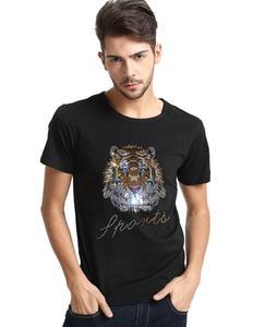 Image 2 - Роскошный дизайн бриллиантов, 100% хлопок, мужские футболки, дизайнерская мужская футболка
