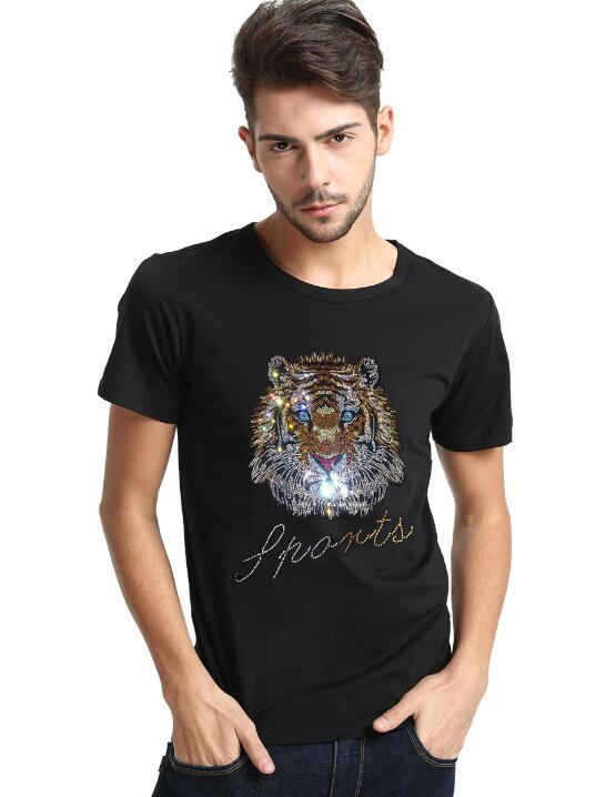 Image 2 - Luxury design of Diamonds 100% Cotton Mens top tees Designer men tshirtT-Shirts