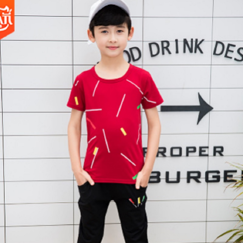 Boys Sports Clothing Set 2019 New Summer and Spring Kids Clothes Sets Childrens Suits 2 Piece 3 Colors Size120-170 ly114Boys Sports Clothing Set 2019 New Summer and Spring Kids Clothes Sets Childrens Suits 2 Piece 3 Colors Size120-170 ly114