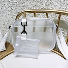 Fashion Transparent Women Girls Clear Crossbody Bag PVC Handbag Casual Zipper Adjustable Strap Shoulder Bags