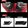 4 pcs tecido de proteção porta mats anti-kick decorativa almofadas para jeep wrangler 2011-2015