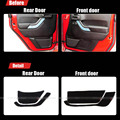 4pcs Fabric Door Protection Mats Anti-kick Decorative Pads For Jeep Wrangler 2011-2015