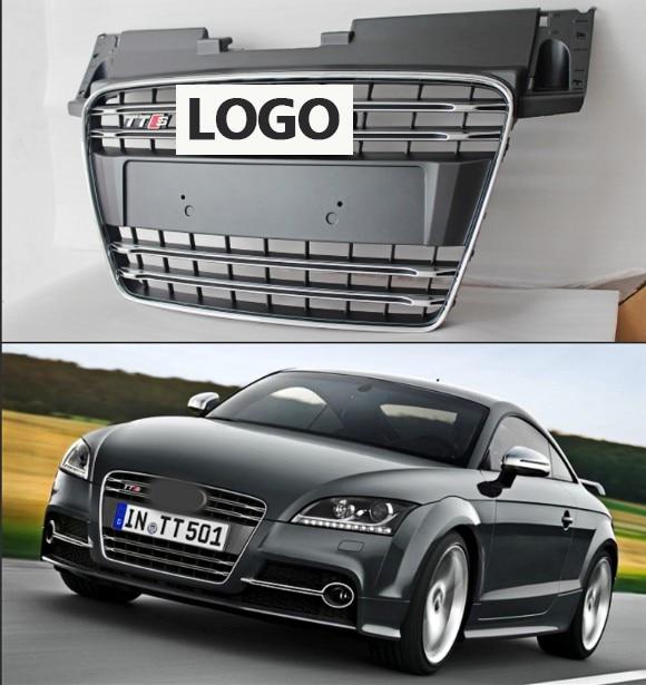 1 pcs De Course De Voiture Grille Pour Audi TT Grill Quattro 8J SFG MK2 2007-2014 Emblème ABS Chrome Radiateur avant Modifier