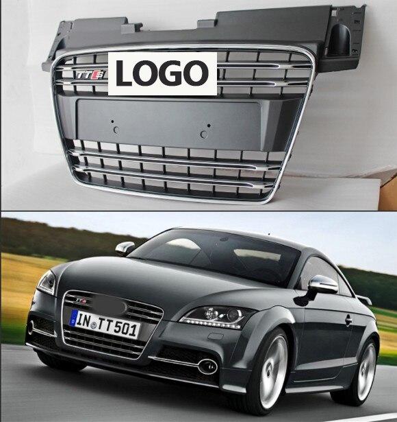 1Pcs Car Racing Grille For Audi TT Grill Quattro 8J SFG MK2 2007-2014 Emblem ABS Radiator Chrome Front Modify цена