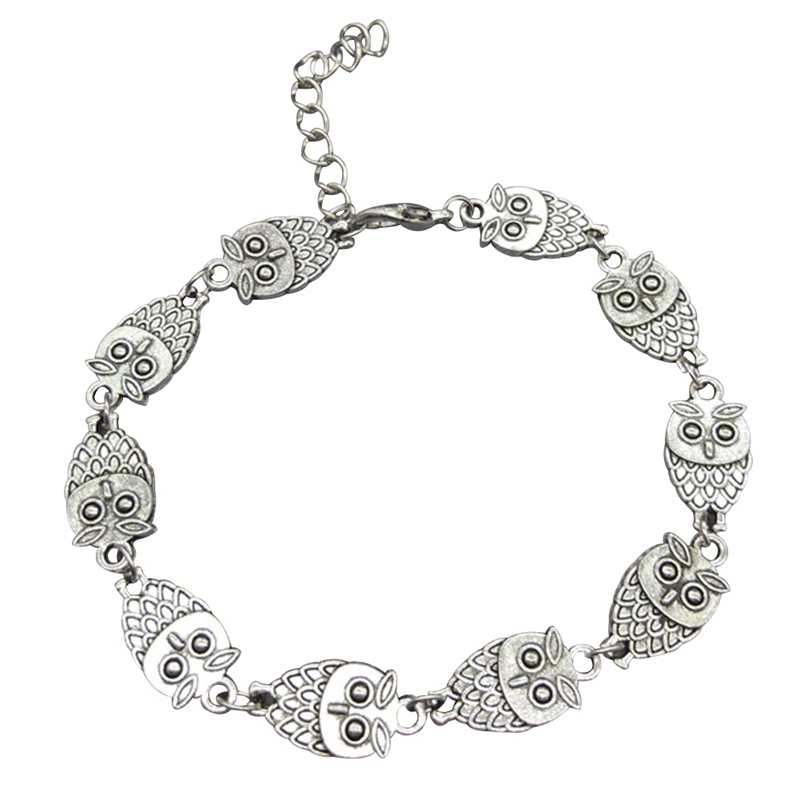 Us 0 63 10 Off New Owl Charm Anklets Bracelets On The Leg For Women Gold Foot Chain Jewelry Fashion Ankle Bracelet In From