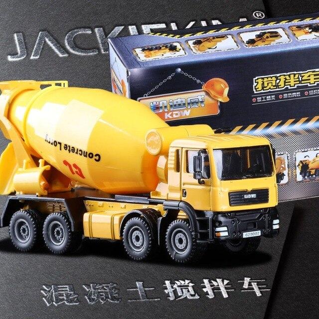 1:50 Truk Semen Bergerak Taksi Memutar Mixer dengan Tangan Diecast Model Alat Transportasi Hadiah Bayi Mainan Gratis Pengiriman