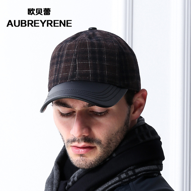 Elder and youth baseball cap hat  male winter outdoor warm earmuffs thickened in femal  peaked cap B-1515