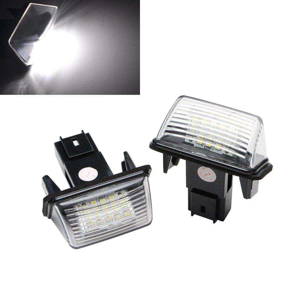 12В LED Светильник номерного знака,не ошибка привела номерной знак света подходят на Пежо 407 406 для Ситроен С3 С4 С5 авто система освещения
