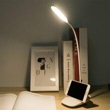 Q3 творческий светодиодный настольная лампа 360 градусов складной обучения глаз ночник зарядка через USB спальня маленькая настольная лампа A11219