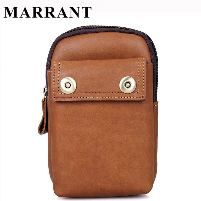 Marrant Small Men Bag Genuine Leather Waist Packs Zipper Chest Belt Bag Fanny Pack Small Men Messenger Bags Men's Leather Bags
