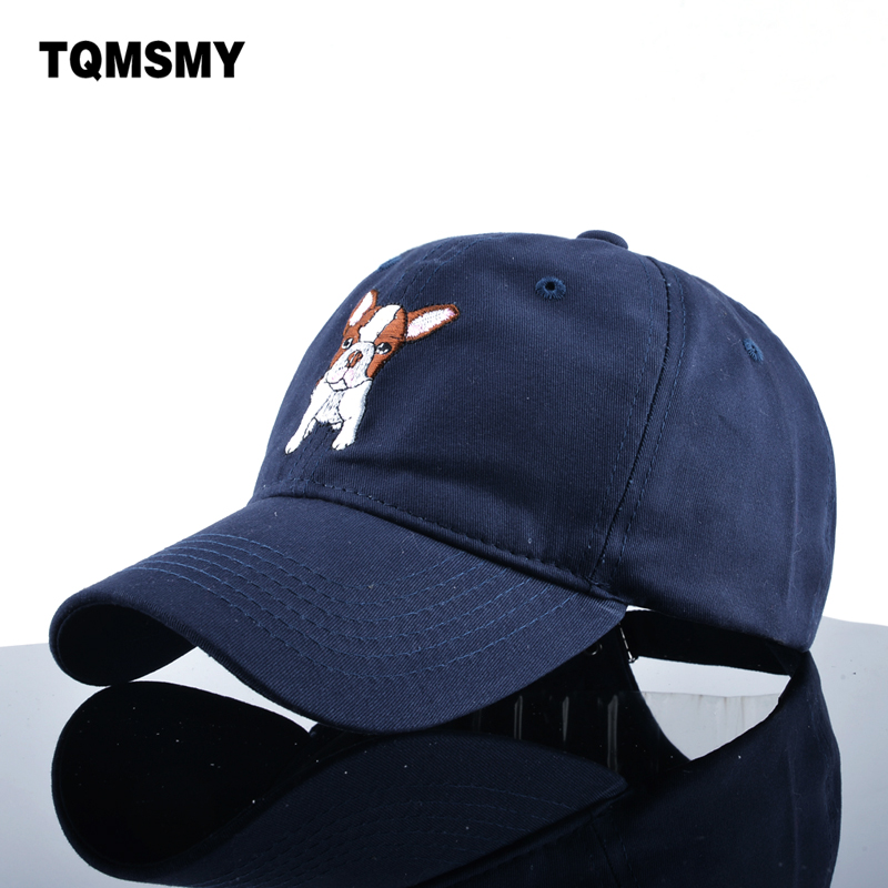 TQMSMY Embroidery dog pattern Baseball Cap men Dad Hat Soft cotton Snapback Caps Unisex Hip Hop bone sun hats for women Visor купить