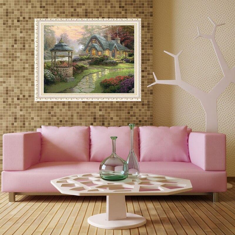 Diament haft Wymarzony dom 55 * 55 cm Diament Mozaika Diy Daimond - Sztuka, rękodzieło i szycie - Zdjęcie 3