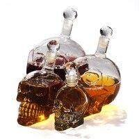 350/550/1000 ml Kreative Kristall Schädel Kopf Whisky Wodka Weinkaraffe Flasche Whisky Glas Bier Geister Cup wasser Glas Bar Tool