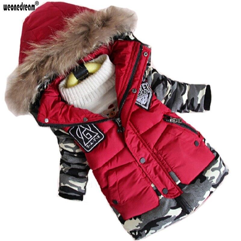 weonedream/новинка, парка для мальчиков зимний детский жакет теплая одежда для мальчиков дети детские толстые хлопковые куртки на пуху холодная зима верхняя одежда
