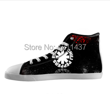 2a1c646cef3f61 Custom Red Hot Chili Peppers Famous Band Printed Sneakers High Top Hot sale  Canvas Breathable shoe best gift to friend-in Men s Casual Shoes from Shoes  on ...