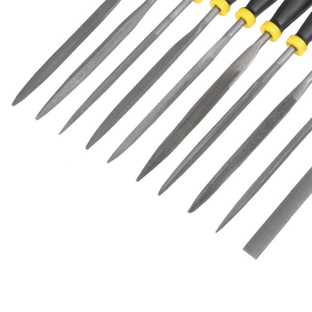 UXCELL Newest 10PCS 5mm x 180mm Smooth Cut Bearing Steel Needle File Set Shape Steel Glass Tile Stone Metal w Rubber Handle in Files from Tools