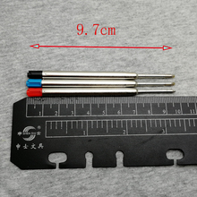 Wholesale ballpoint pen refills 10pcs a lot black ink and blue for your options  good writing feel roller ball