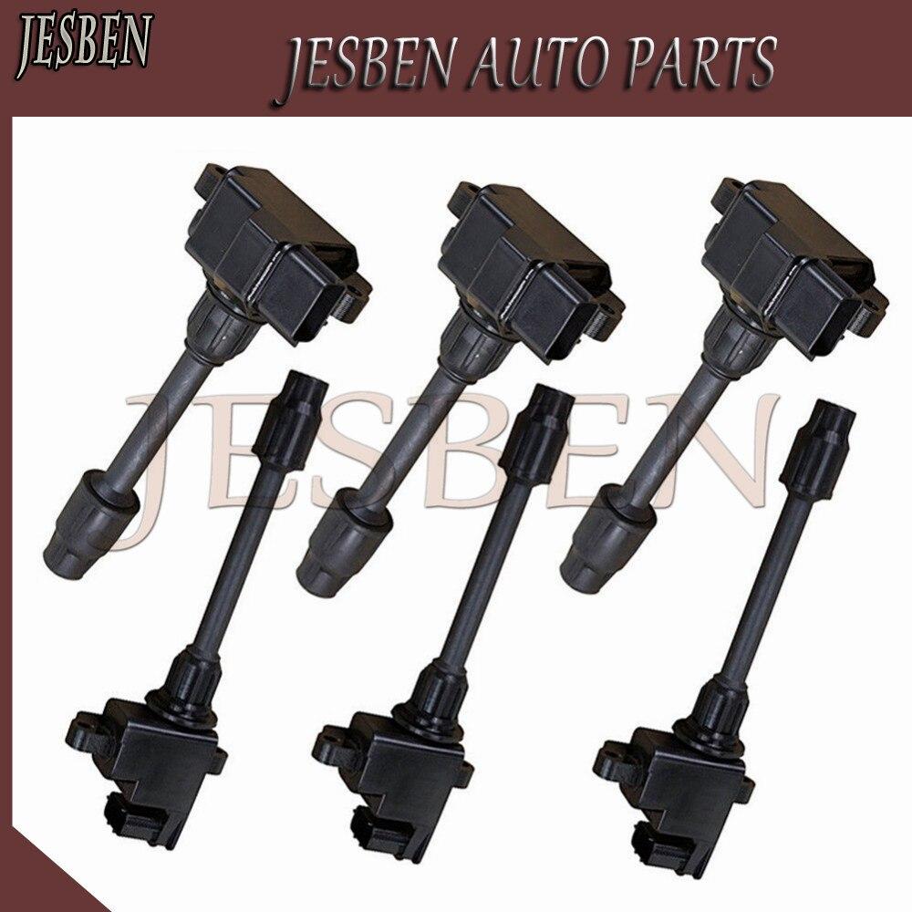 JESBEN 6X Front Rear Ignition Coil F For Nissan Maxima QX Infiniti I30 VQ20DE VQ30DE NO