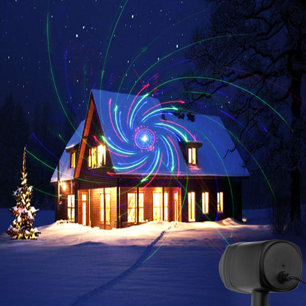 Laser Christmas Lights Red Green Blue Moving RGB 20 Patterns Projector IP65 Outdoor RF Remote For Xmas Holiday Garden Decoration christmas laser lights outdoor projector motion 12 xmas patterns waterproof ip65 rf remote for garden landscape decoration