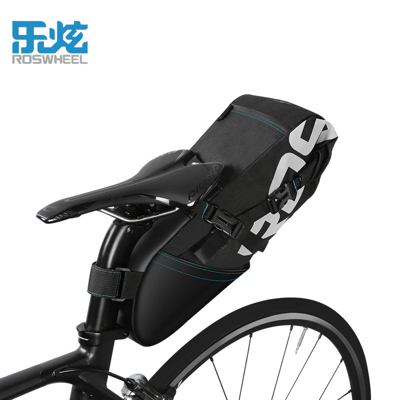 Roswheel Bike Bag Bicycle Bag 2018 8L/10L Waterproof Cycling Rear Rack Bag Seatpost Tail Saddle Bag Bike Accessories roswheel bicycle bag men women bike rear seat saddle bag crossbody bag for cycling accessories outdoor sport riding backpack