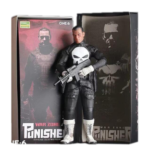 Brinquedos loucos punisher zona de guerra 1/6th escala collectible figura figura de ação pvc modelo brinquedos presente