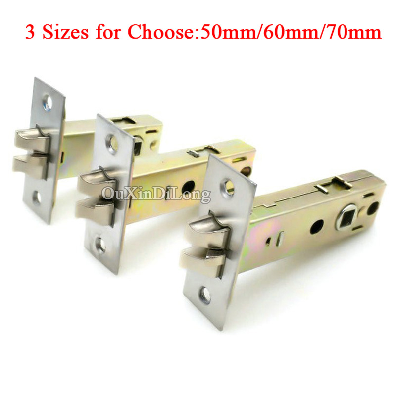 HOT 1Piece European Mortise Locks Lock body Anti-theft lock cylinder Door lock repair parts Center Distance 50mm/60mm/70mm 1pcs anti theft padlock iron gate security locks square small lock width 40mm 50mm 60mm 70mm with keys kf1079