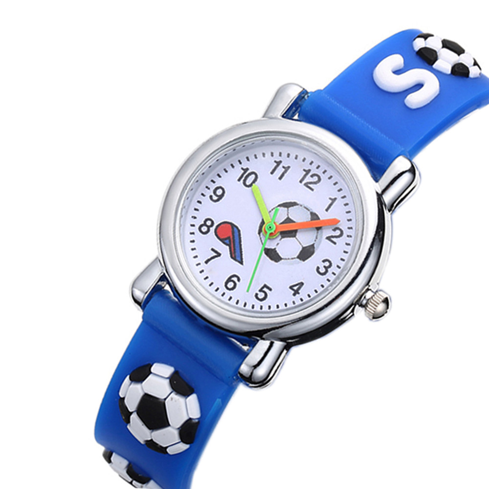 Cute 3D Soccer Kids Watches Soft Silicone Football Band Children Watch Boys Girls Baby's Wrist Watch Clock Relogio Infantil 2019