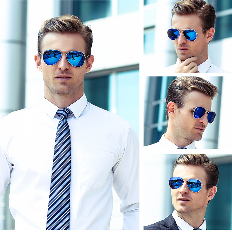 EL Malus 2019 Fashion Retro Men Aviation Pilot Sunglasses UV400 Vintage Gold Black Silver Green Big Frame Mirror Women Male in Men 39 s Sunglasses from Apparel Accessories