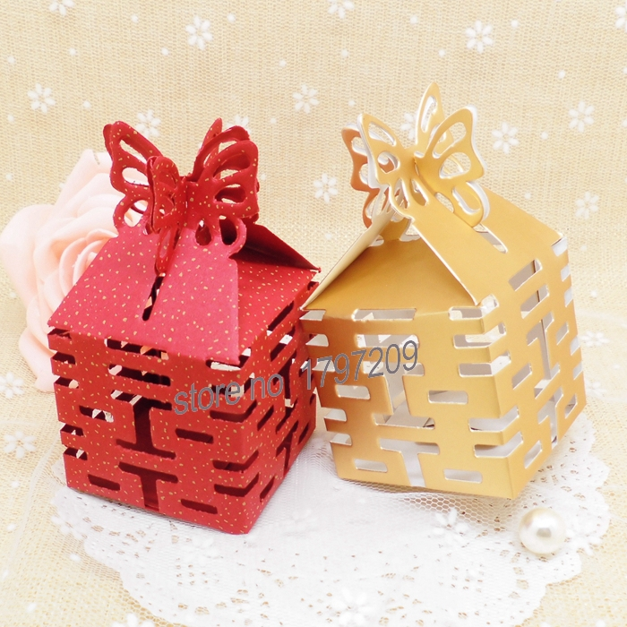100pcs Decoupage Paper Double Happiness Chinese Wedding Favor