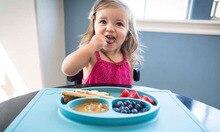 2016 neue Spaß Mahlzeit Tischset-Silikon Baby Platte & Tischset, BPA, PVC, und Phtalatenfrei Silikon Baby Mahlzeit Platte Matte