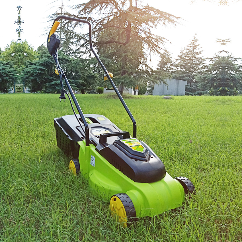 New Arrival 1600w Home Electric Lawn Mower Touching Lawn