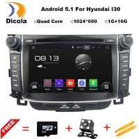 HD1024x600 Quad Core Android 5 1 1 Car DVD GPS For Hyundai I30 I 30 2011