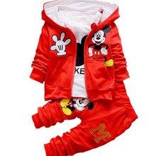 Cartoon Long Sleeve Suit Three-piece Boysand Girls Sanitary Clothes 1-4 Years Old Wear Sportswear