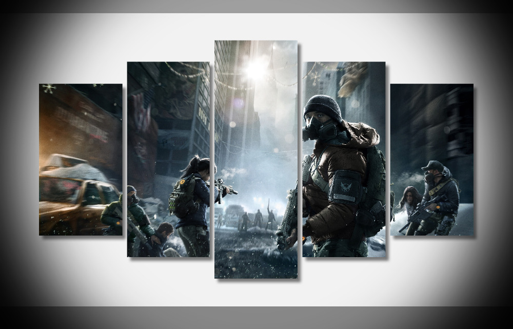 6865 Tom Clancy La Division 2015 Jeu New York Ubisoft WallpapersByte com affiche Encadrée Galerie wrap art reproduction accueil mur décembre