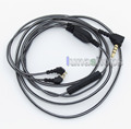 Black And White With Mic Remote Earphone Audio Cable For Etymotic ER4B ER4PT ER4S ER6I ER4 ER4SR ER4XR LN005509