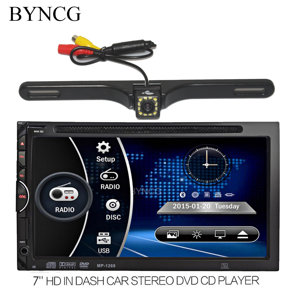 Car Auto Radio DVD Player 7 inch In-dash Stereo Video 2 din DVD/USB/SD/MP4 Player RDS UI Bluetooth FM/AM Radio for Nissan Toyota