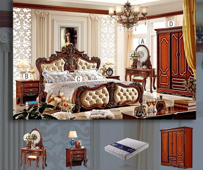 2016 new design antique bedroom furniture set