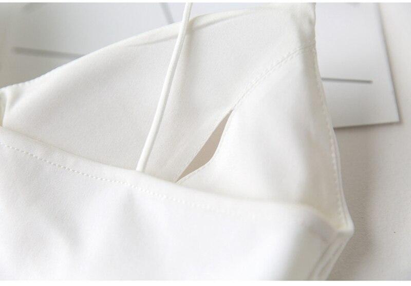 Sexy Women Crochet Solid Crop Top V Neck Bra Bralette Vest Strap Crochet Sleeveless Bustier Tank Top Deep V Neck White Camisa (6)