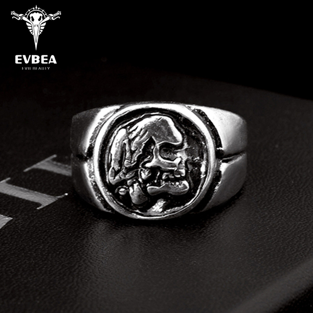 49d9b20fd85425 EVBEA Wholesale Cheap Cool Hell Death Skull Ring Man Never Fade Punk Biker  Man's High Quality Ring R166