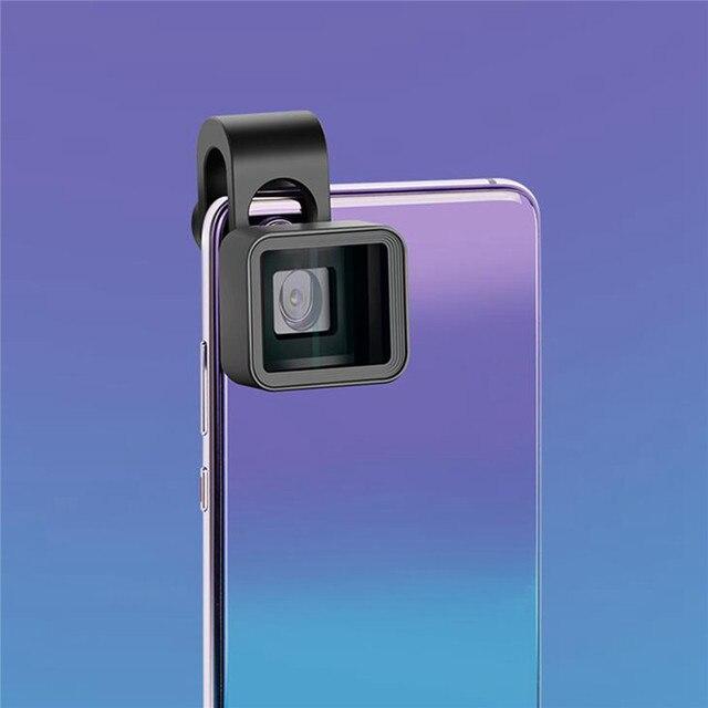 Upgrade Versie 1.33X Vervorming Mobiele Telefoon Lens Universele Clip Breedbeeld Film Groothoek Camera Lens voor iPhone Samsung